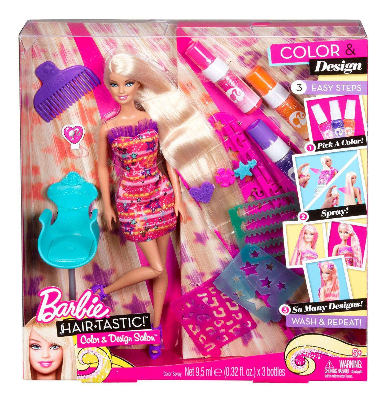 Color And Design Salon Barbie.Barbie Hairtastic Colour Design Salon Doll
