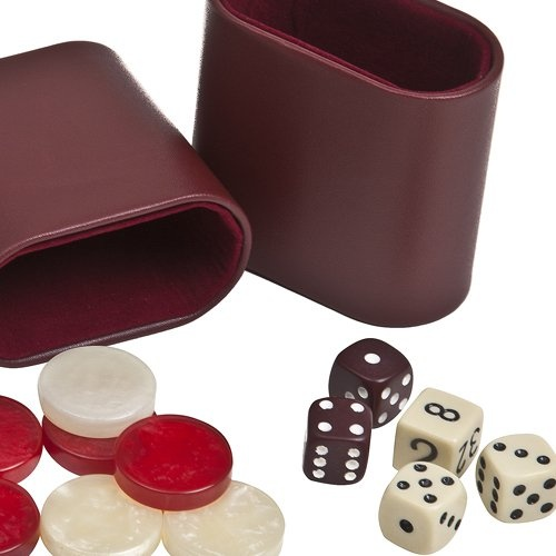 Bello Games New York Inc Venus Deluxe Marbleized Pearl Type Backgammon Checkers from Greece