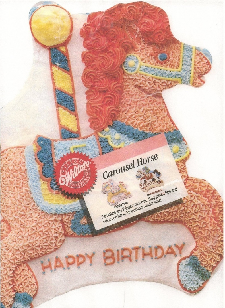 Wilton Cake Pan Carousel Horse 2105 6507 1990 By Wilton Shop Online For Kitchen In Australia