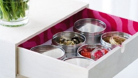IKEA 6 stainless steel magnetic containers spice tins jars office GRUNDTAL