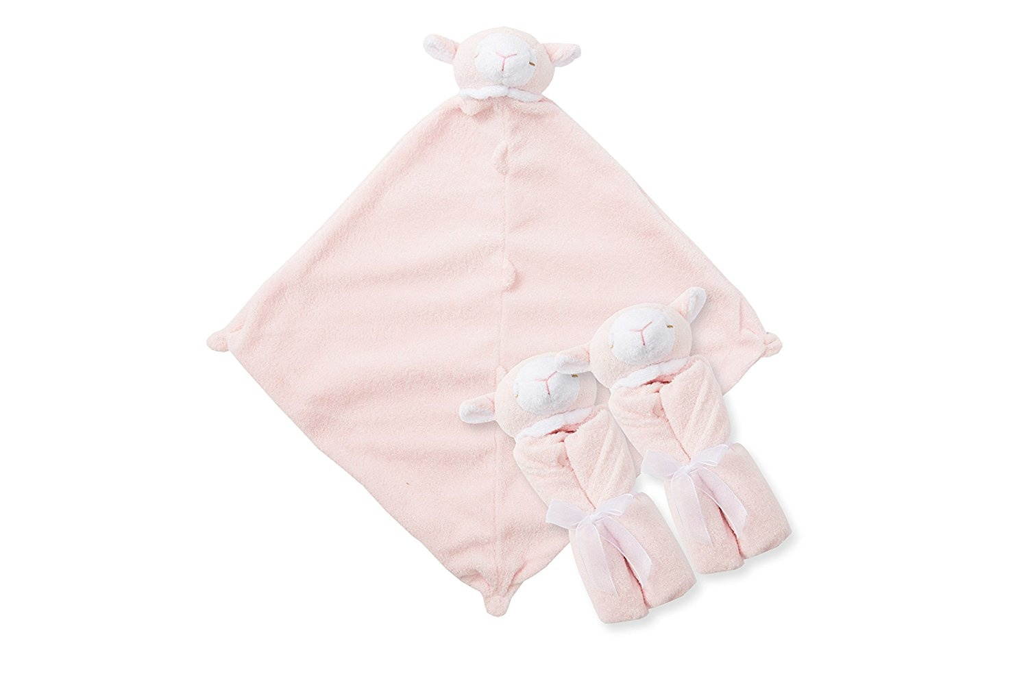 White Lamb Angel Dear Pair and a Spare 3 Piece Blanket Set