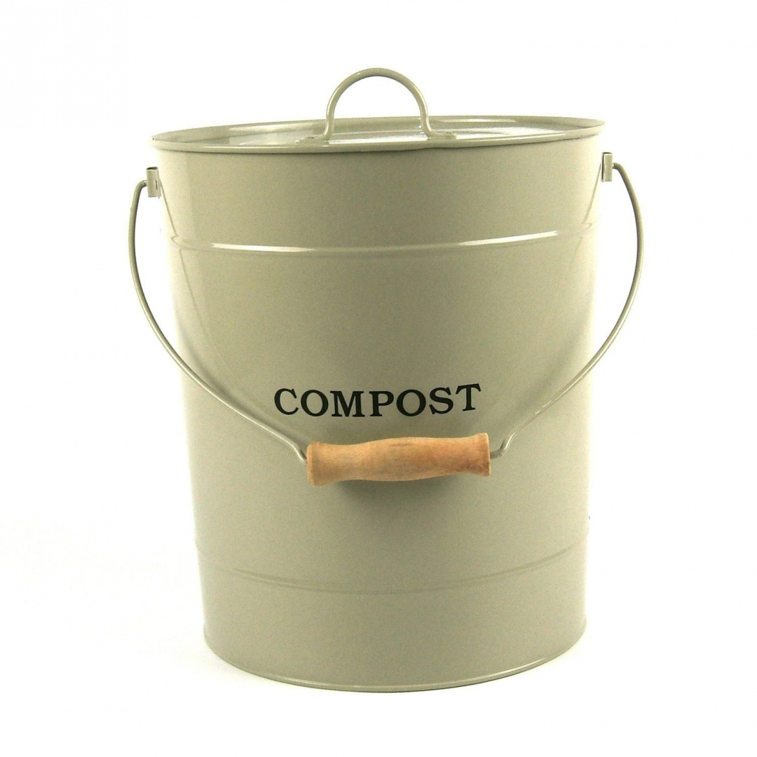 Extra Large Metal Kitchen Compost Caddy Clay Colour Composting Guide Composting Bin For Food Waste Recycling 10l Size By All Green Shop Online For Kitchen In Australia