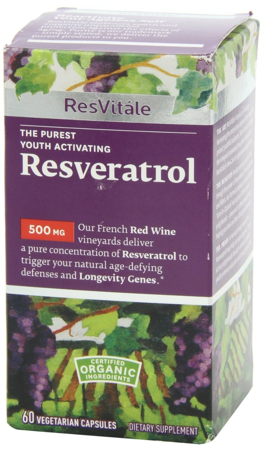 Resvitale Resveratrol 500mg 60capsules By Resvitale Shop Online