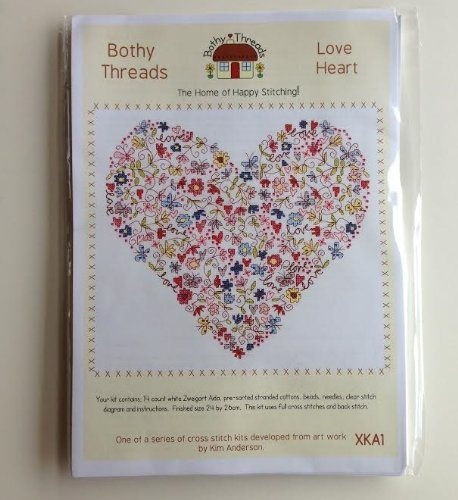 Cross Stitch Kit by Bothy Threads Love Heart