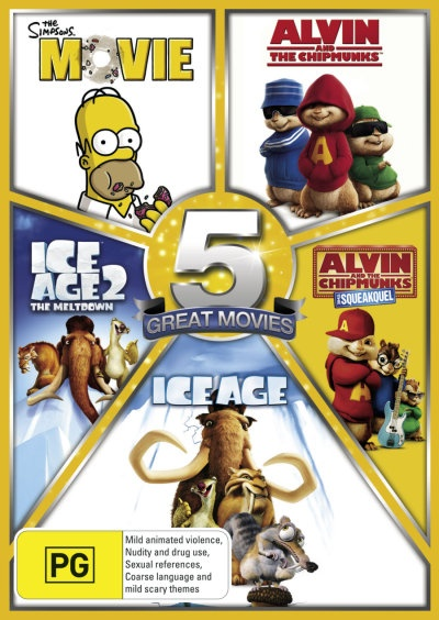 The Simpsons Movie Alvin And The Chipmunks Ice Age 2 The