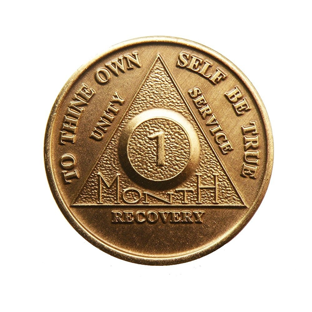 Alcoholic 1 Year Recovery One Day Chip-Medallion Coin Medal Token AA Anonymous
