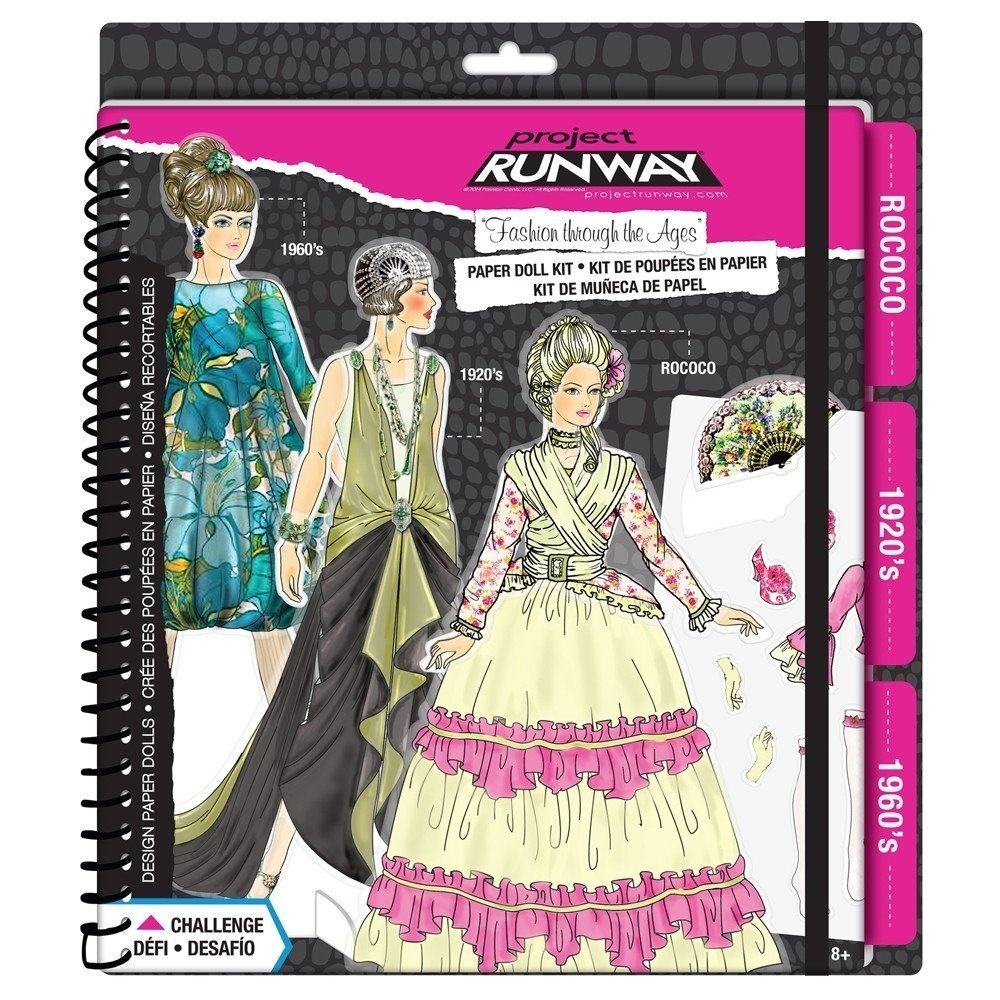 Fashion Angels Project Runway Fashion Through The Ages Paper Dolls Kit By Project Runway Shop Online For Toys In Australia