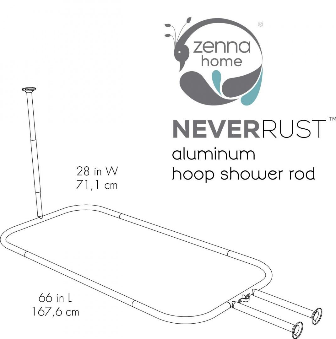 Zenna Home 34941ss Neverrust Tm Aluminium Hoop Shower