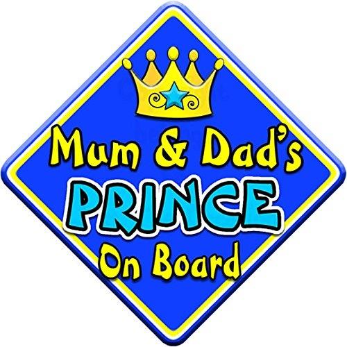 SWIRL JEWEL On Board Novelty Car Window Sign Mum /& Dads PRINCES
