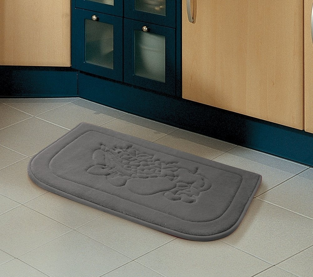 Grey Fruit Memory Foam Anti Fatigue Kitchen Floor Mat Rug Victoria Classics By Victoria Classics - Shop Online For Kitchen In Australia