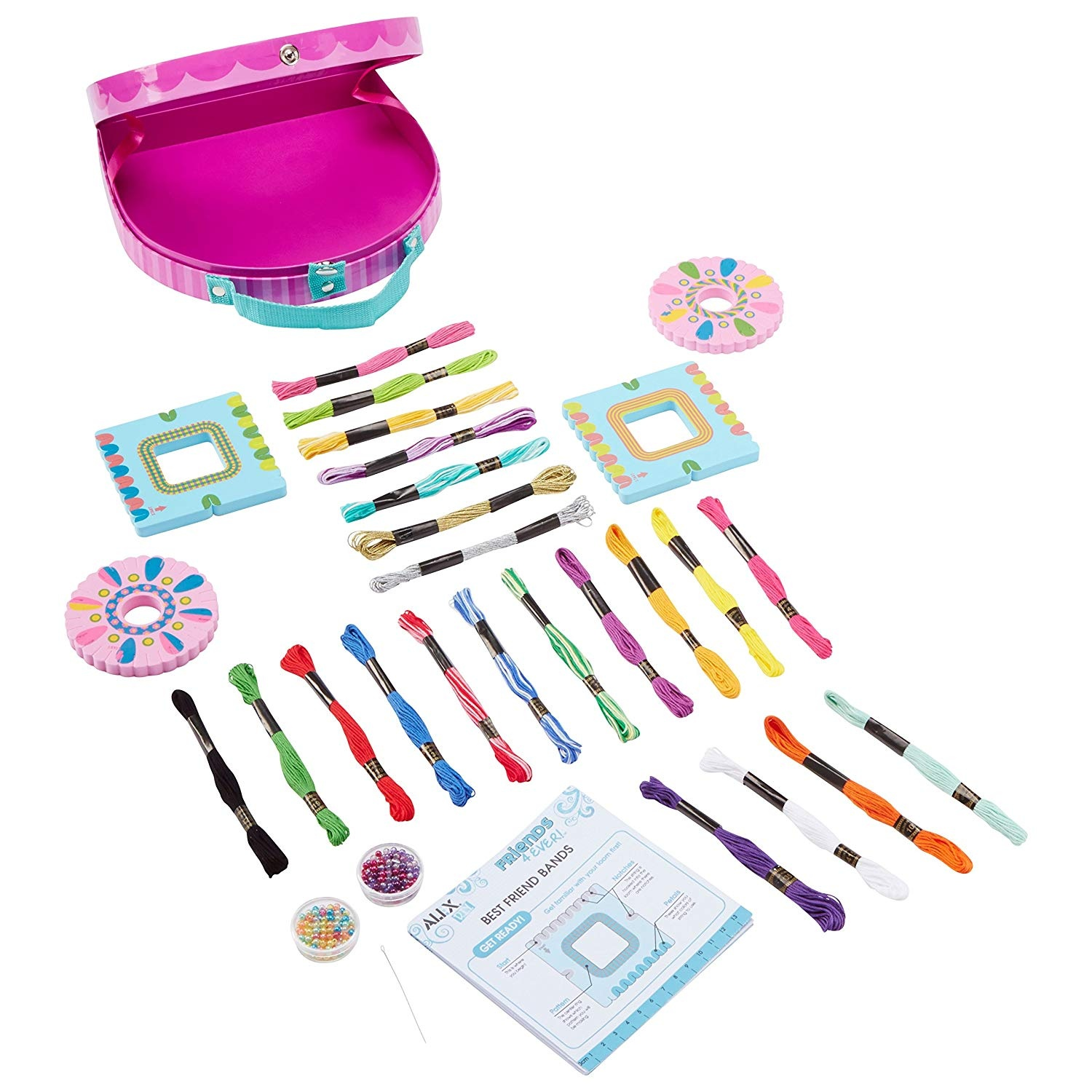 Bracelet and loom bands toys maker Complete kit with 2100 col Wizard of Loom