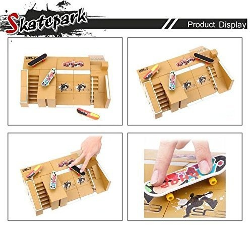 8pcs Skate Park Kit Ramp Parts for Tech Deck Fingerboard Mini Finger Skateboard