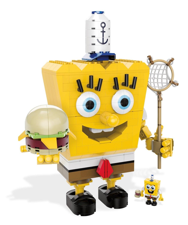 SpongeBob Square Pants Block Construction Life Bottomite Coin Bank Krabby Hat