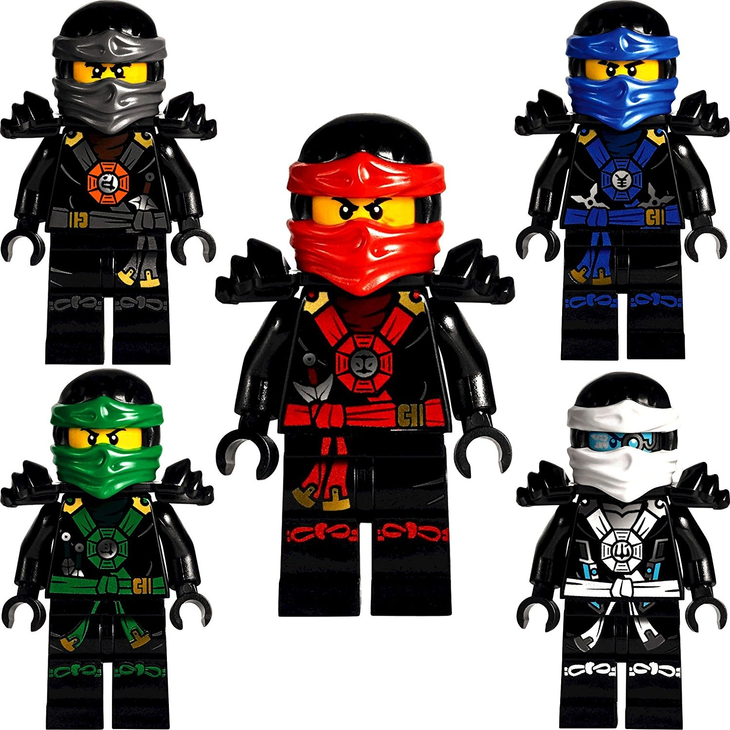 Lego Ninjago Set Of 5 Minifigures Deepstone Kai Lloyd Jay Zane And Cole From Set 70751 Lego Shop Online For Toys In Australia