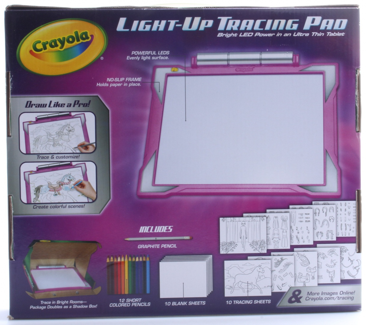 Crayola Light Up Tracing Pad Pink Colouring Board For Kids Gift Toys For Girls Ages 6 7 8 9 10 By Crayola Shop Online For Toys In Australia