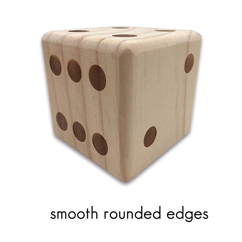Giant Wooden Lawn Game Yard Dice Set with 6 Dice 2 Dry Erase Yardkle Yardzee New