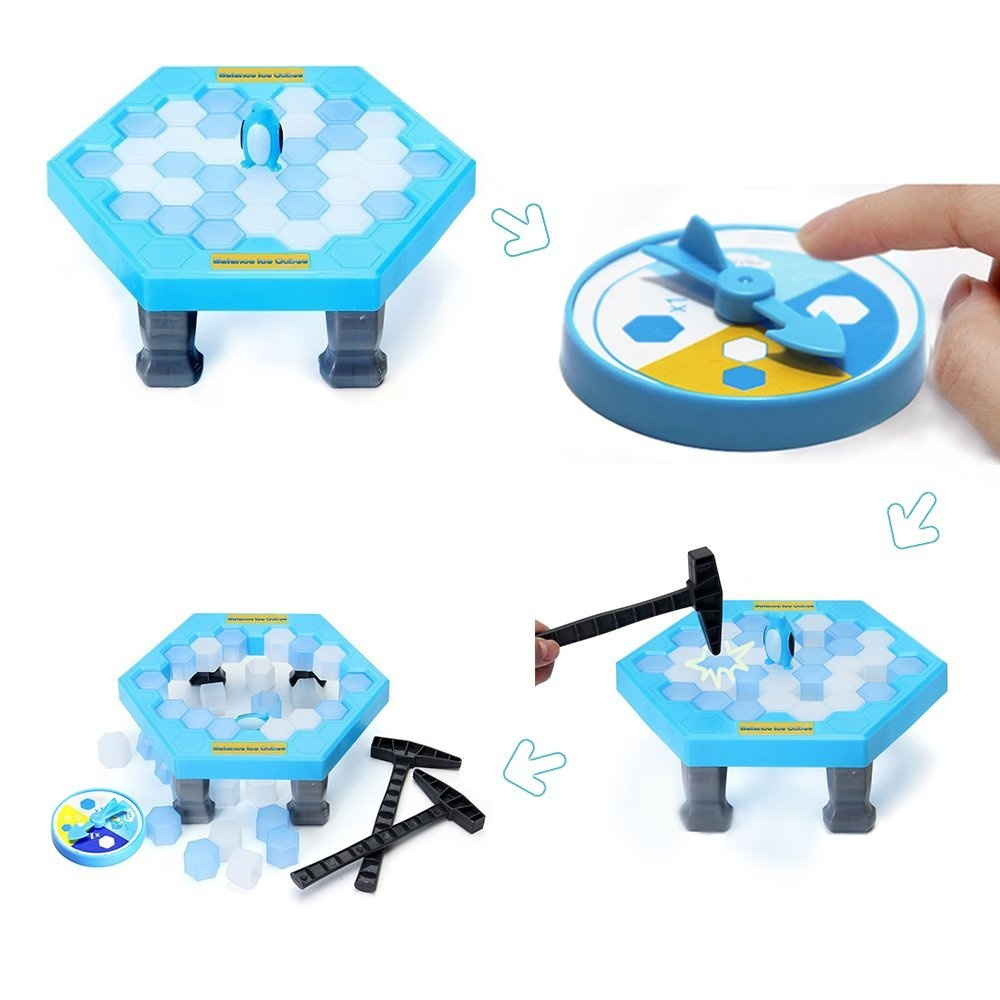 ElementDigital Balance Ice Cubes Penguin Trap Game Puzzle Table Games Toys Save Penguin Icebreaker Beating Interactive Desktop Party Games for Kids Intellectual Development
