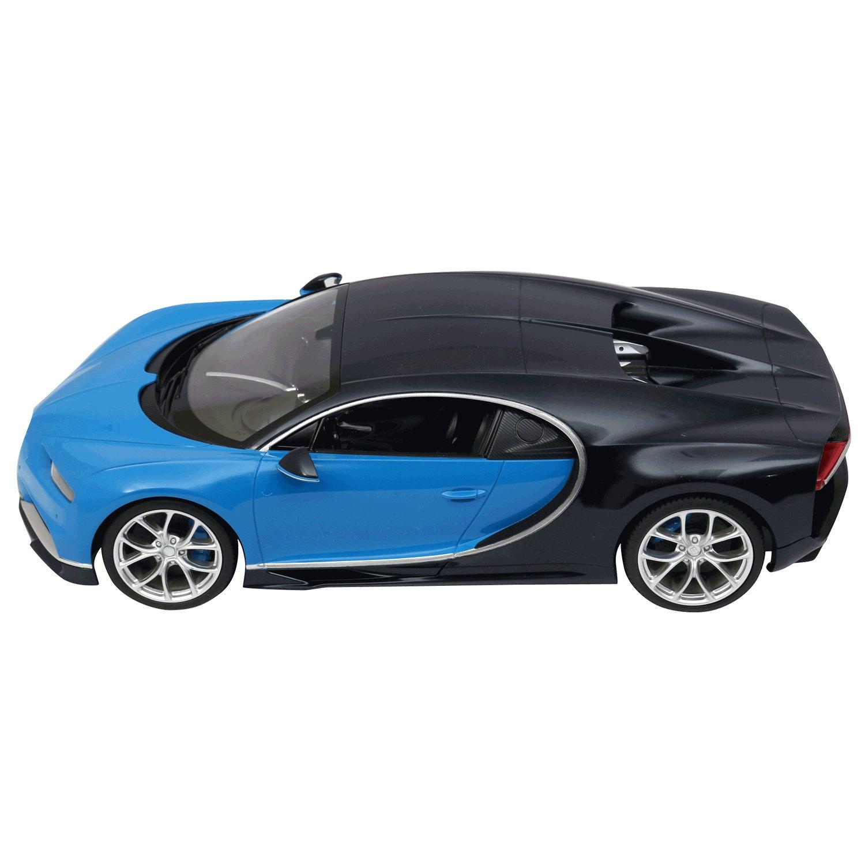 Rastar R//C Car 1:14 Scale Bugatti Chiron Licensed Radio Remote Control 1//14 RTR Super Sports Car Model Blue