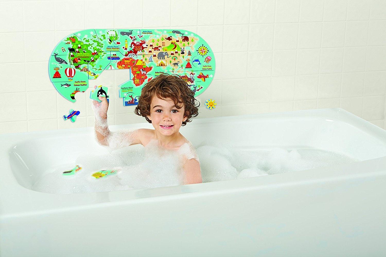 Alex Bath World Map in The Tub 200020