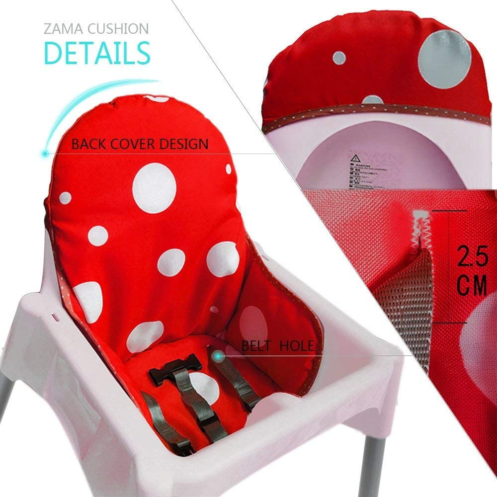 Ikea Antilop Highchair Seat Covers /& Insert Mat Cushion Washable Fold able Baby.