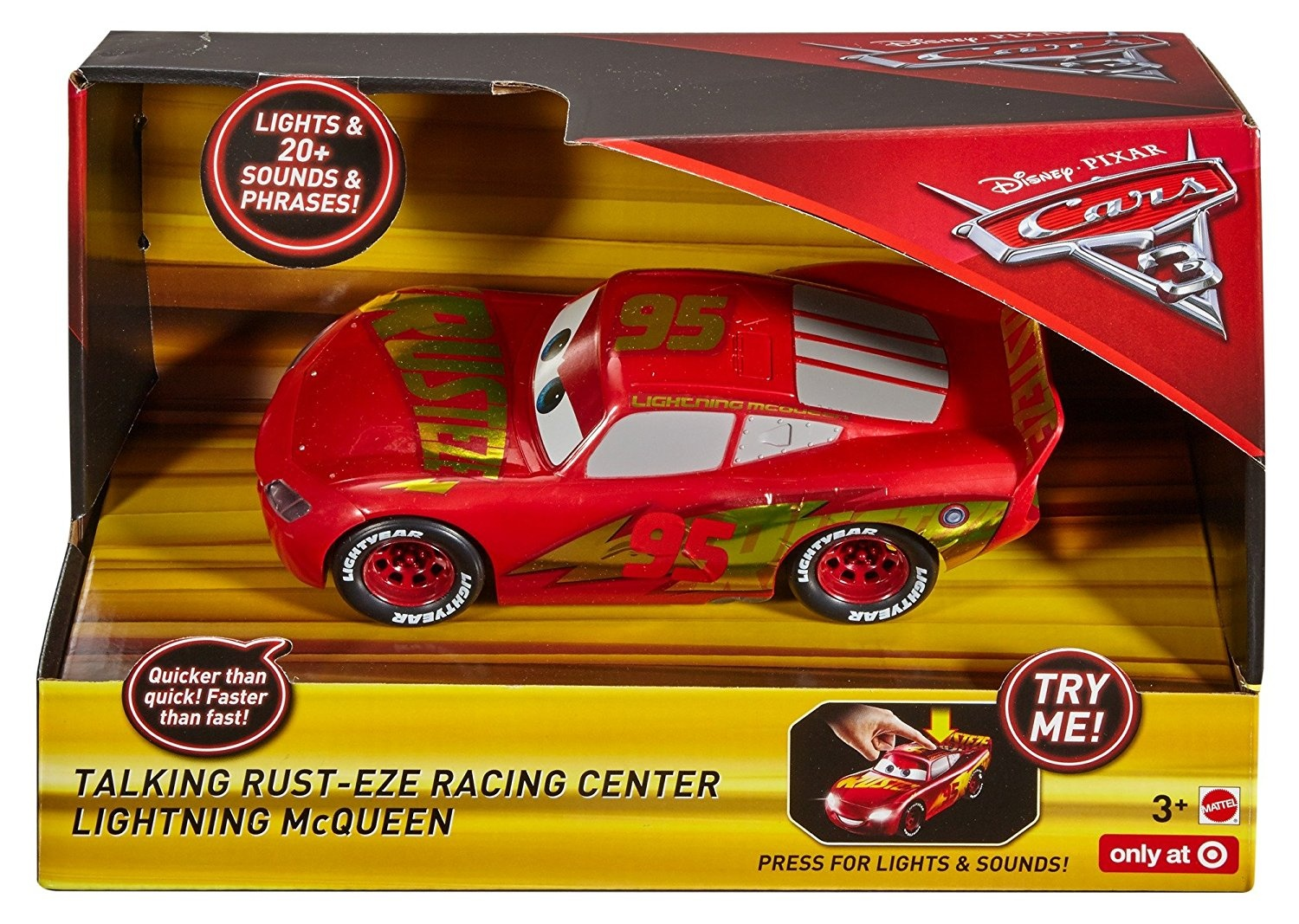 Talking Rust Eze Racing Centre Lightning Mcqueen Vehicle Disney