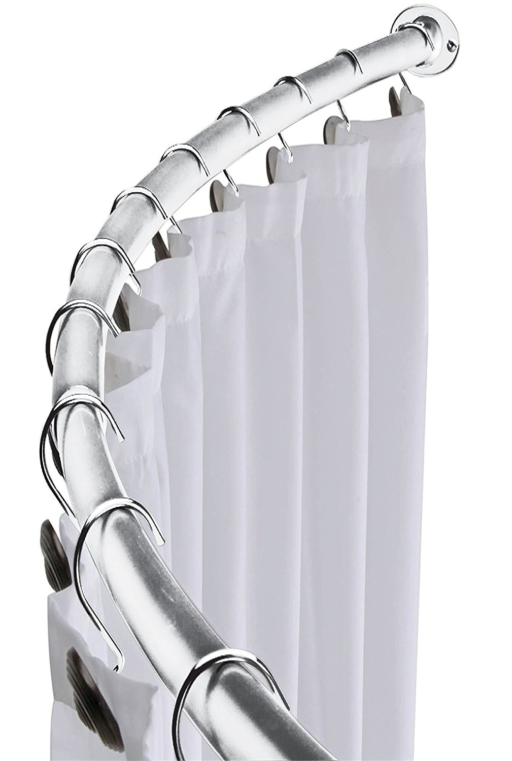 Minel Curved Shower Curtain Rod Expandable From 42 To 72 Added Space Brushed Nickel Finish By Minel Shop Online For Homeware In Australia