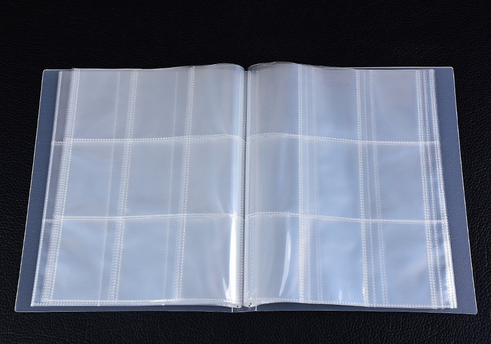SAIKA 288 Pockets Transparent Pokemon Trading Cards Album Sleeves Storage Page Protectors Also Fits Other Card Games