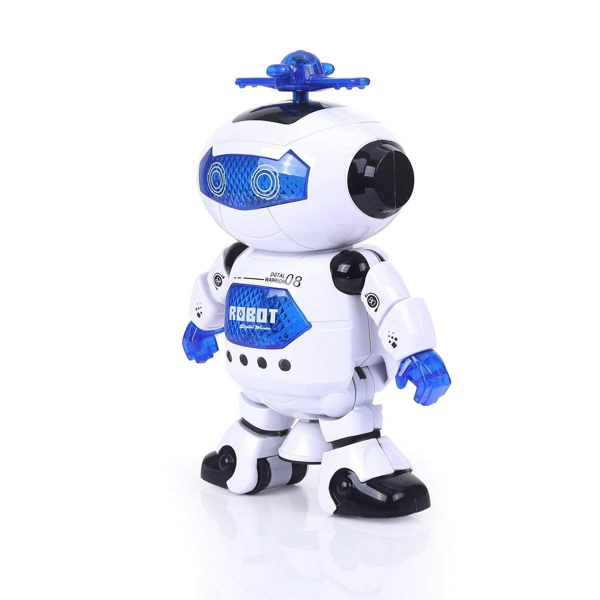 Alagoo Electronic Toy Robot Walking Dancing Singing Robot with Musical and Colorful Flashing Lights 360/° Body Spinning Robot Toy Gift for Kids Girls Boys Red