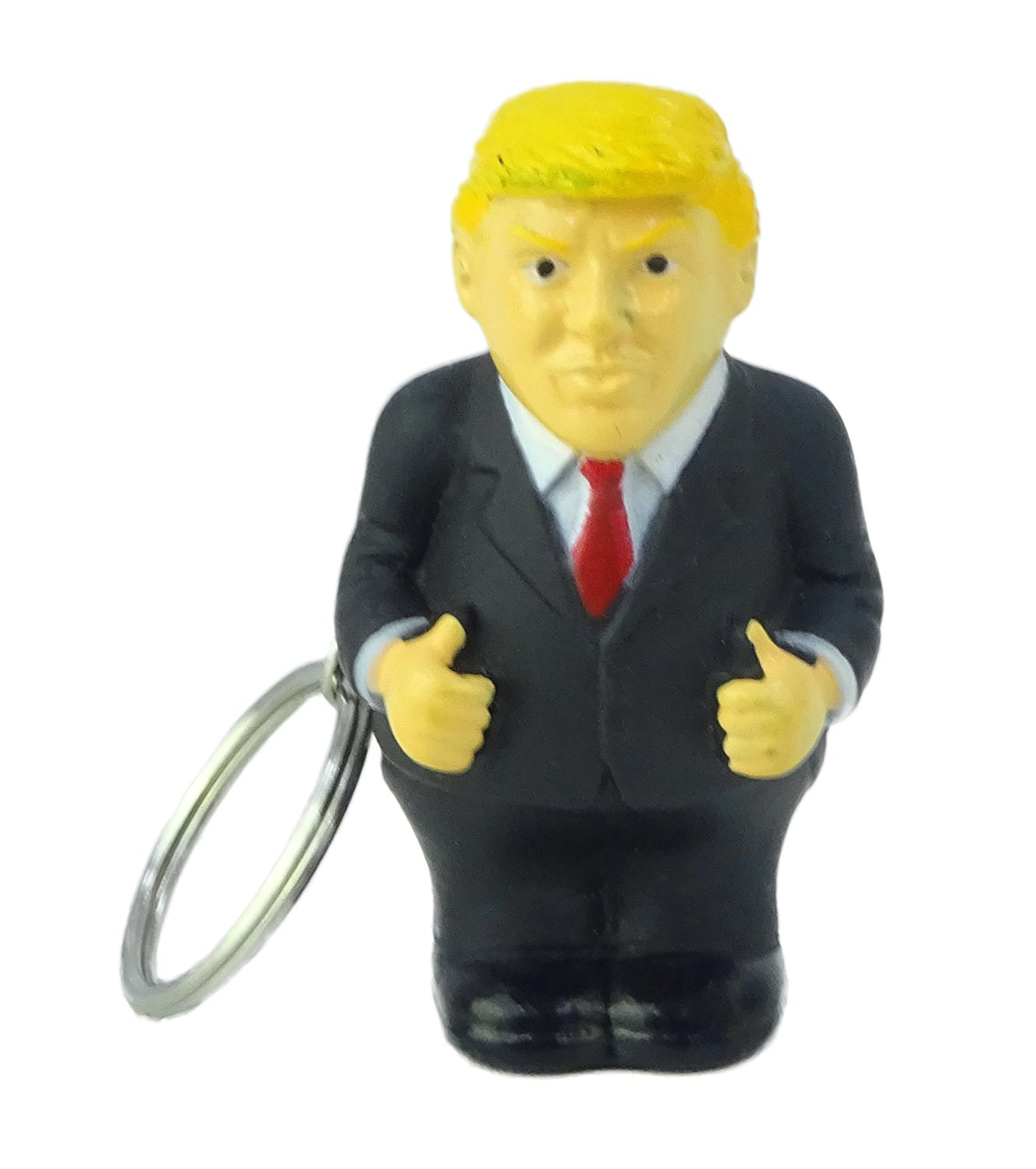 Donald Trump Poop Keyring President Squeeze Funny Keychain Novelty Key Ring