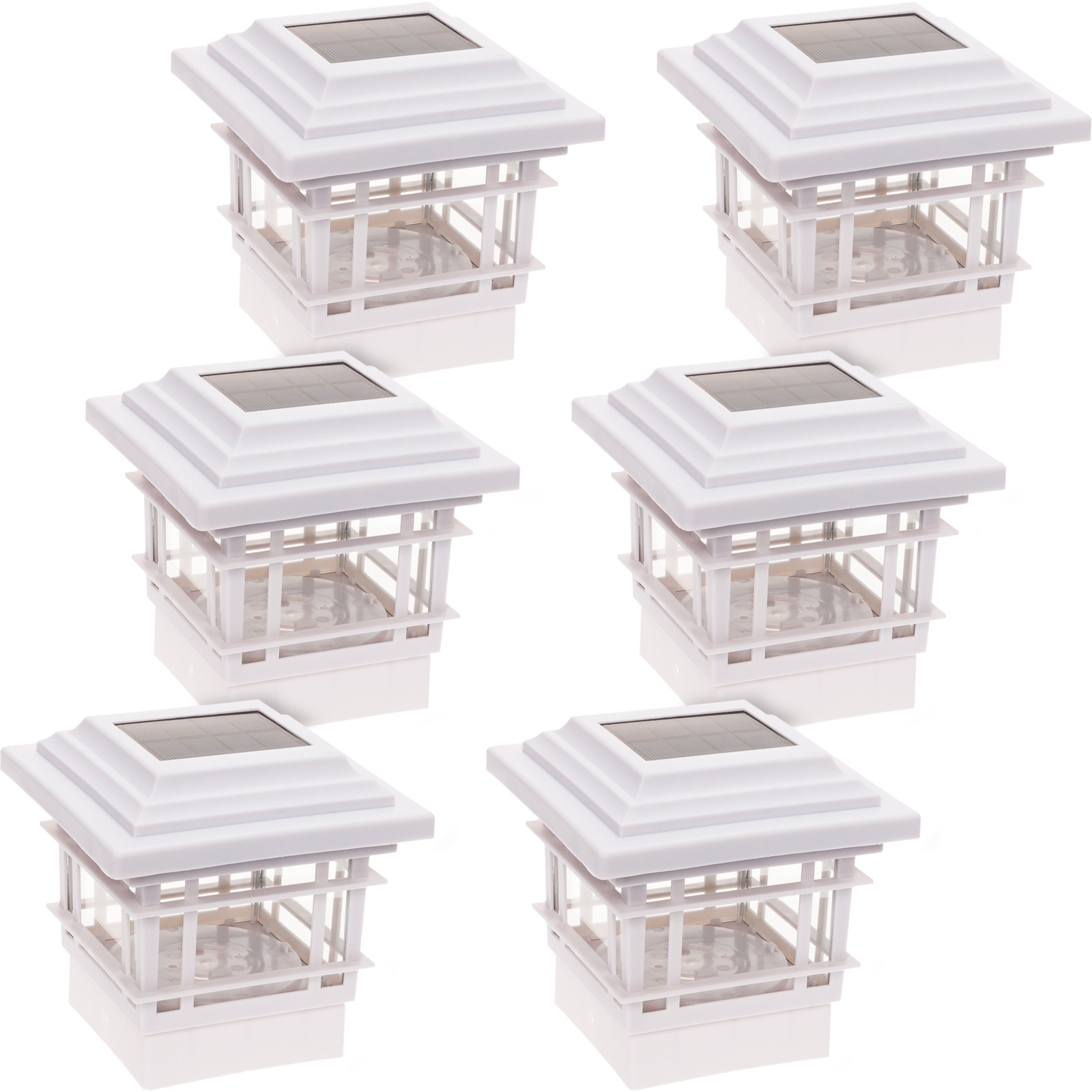 6 Pack Greenlighting Classica High Lumen Deck Fence Solar Post Cap Lights By Greenlighting Shop Online For Homeware In Australia