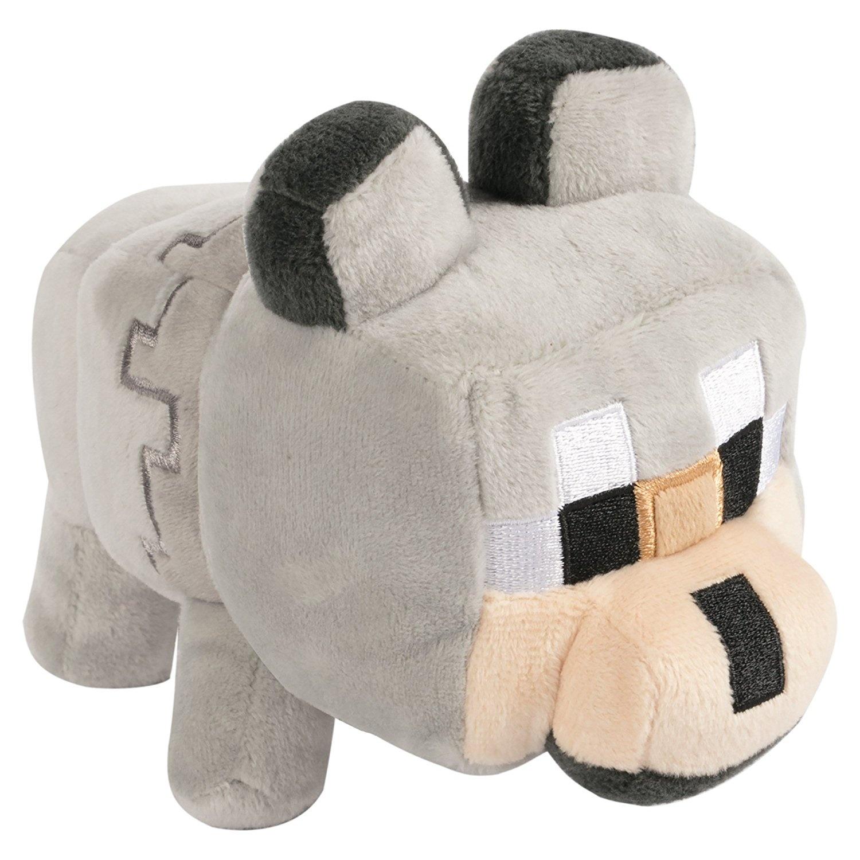 Jinx Minecraft Happy Explorer Untamed Wolf Plush Stuffed Toy Multi Colour 18cm By Jinx Shop Online For Toys In Australia