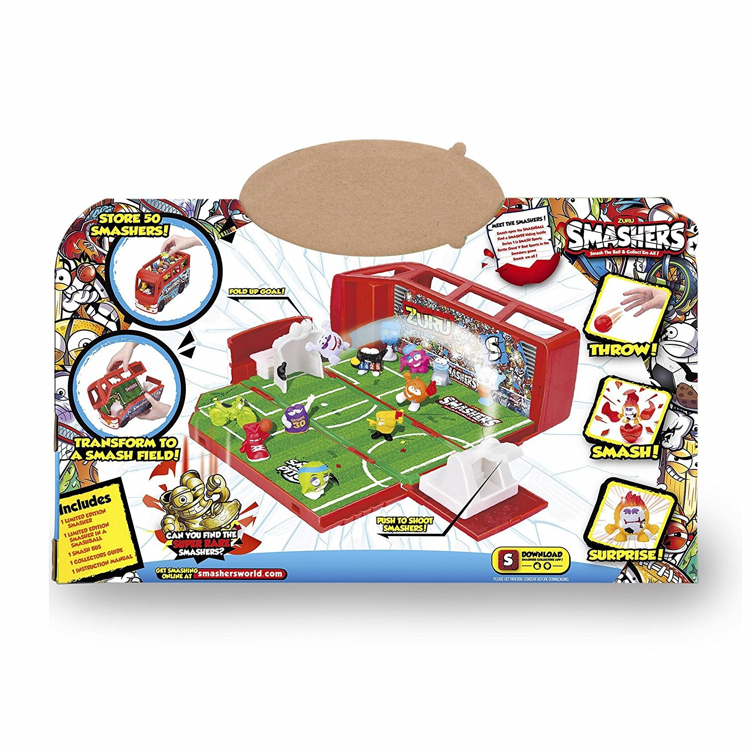Smashers/ Famous 700014384 /Football Bus with 2/Figures,