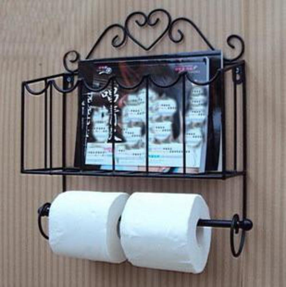 Magazine Holder Bathroom Wall Mounted Magazine Rack Newspaper Holder Kitchen Bathroom Shelf Wrought Iron Towel Rack Bathroom Shelf A 32x9x38cm 13x4x15inch By Wayer Shop Online For Homeware In Australia