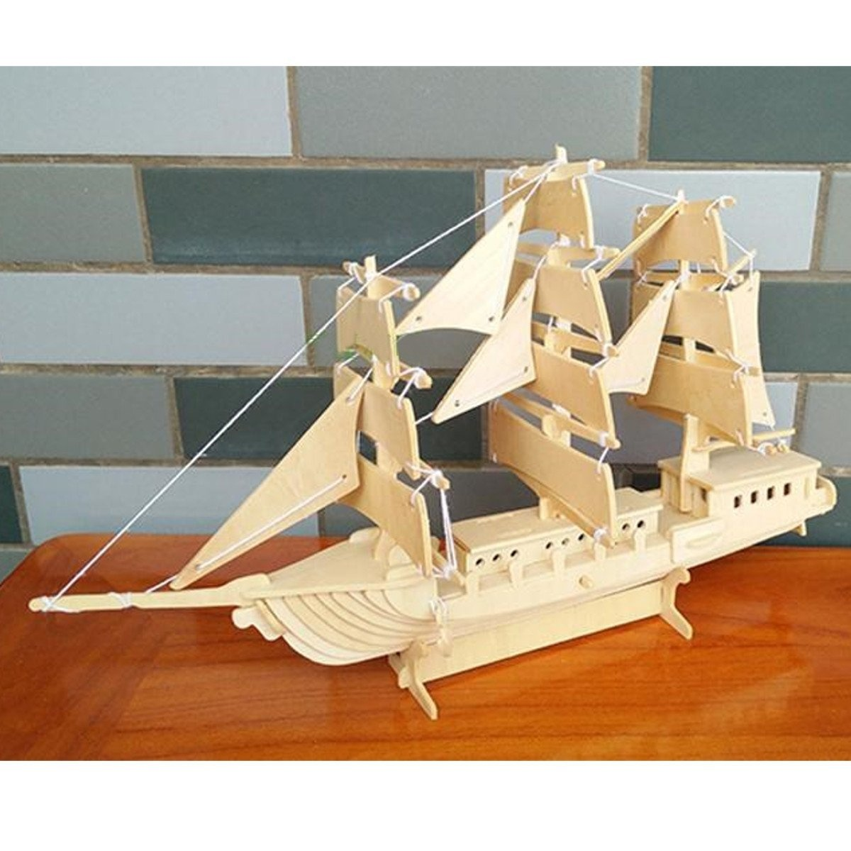 Aissimio Hobby Wooden Ship Models Diy Ship Model Kit Boat Ships Kits Sail Boat Wooden Model Kit Toy Boat Model Building Kit Model Kit Decoration Toy