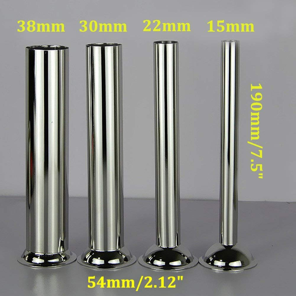Base Diameter:38mm LiebHome 4pcs Stainless Steel Sausage Stuffer Filling Tubes Funnels Nozzles Spare Parts Filler Tube