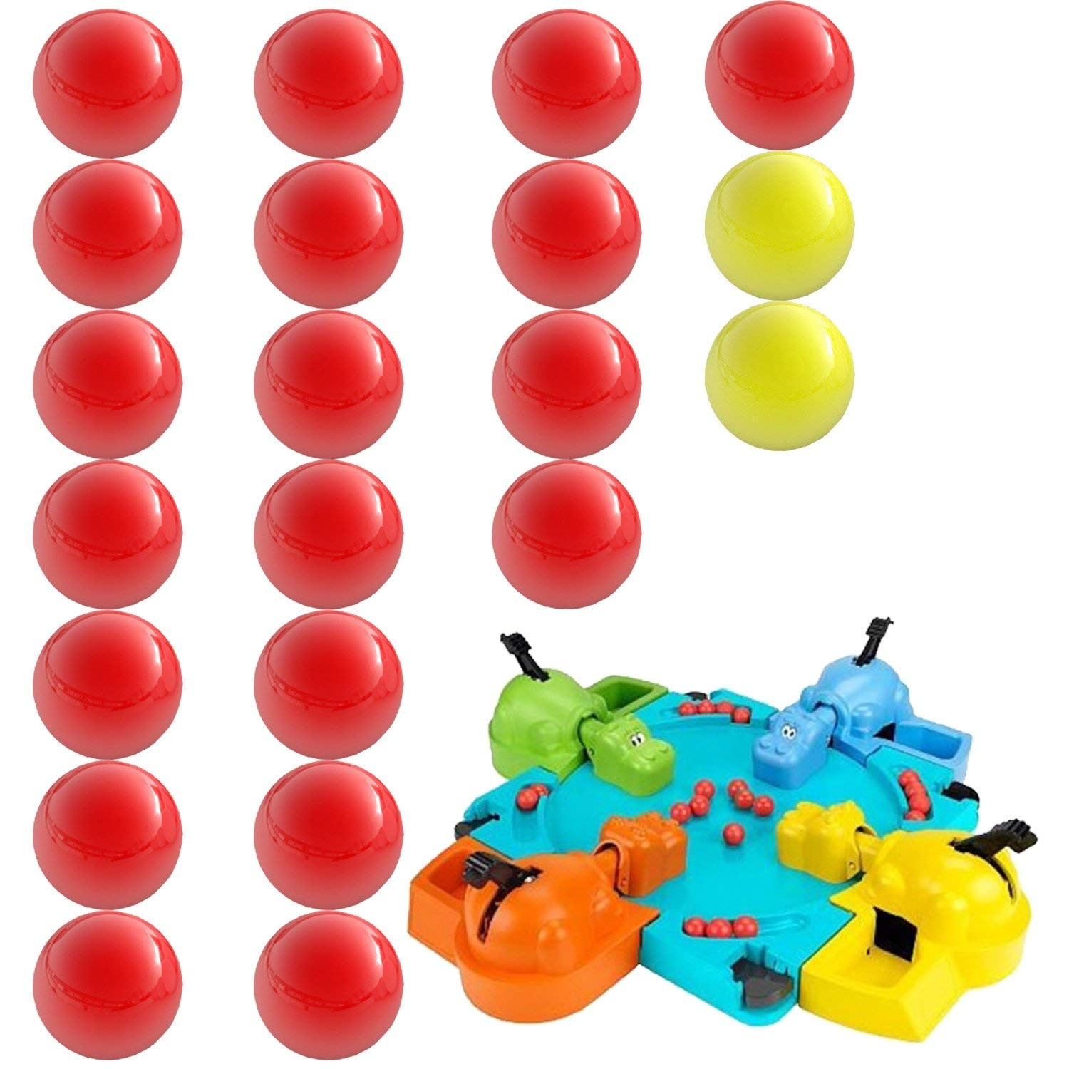 Hungry Hungry Hippos Compatible Replacement Marbles 21 Pieces 19 Red And 2 Yellow Perfect Replacement Game Balls By Impresa Products By Impresa Shop Online For Toys In Australia