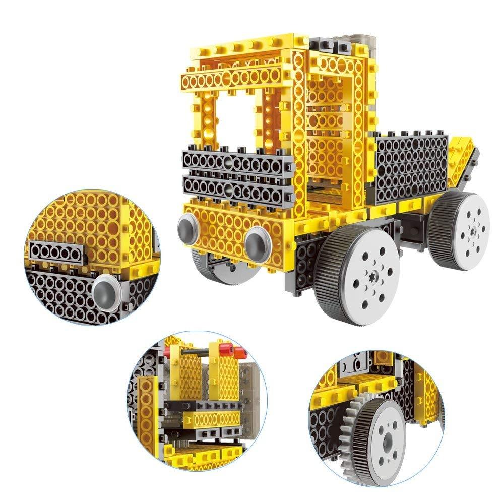 Remote Control Building Kits Robot Vehicle Building Kit Robot Kit Building Toys for Kids Remote Control Blocks Construction Vehicle DIY Remote Control Robot WETECH Robotic Kits
