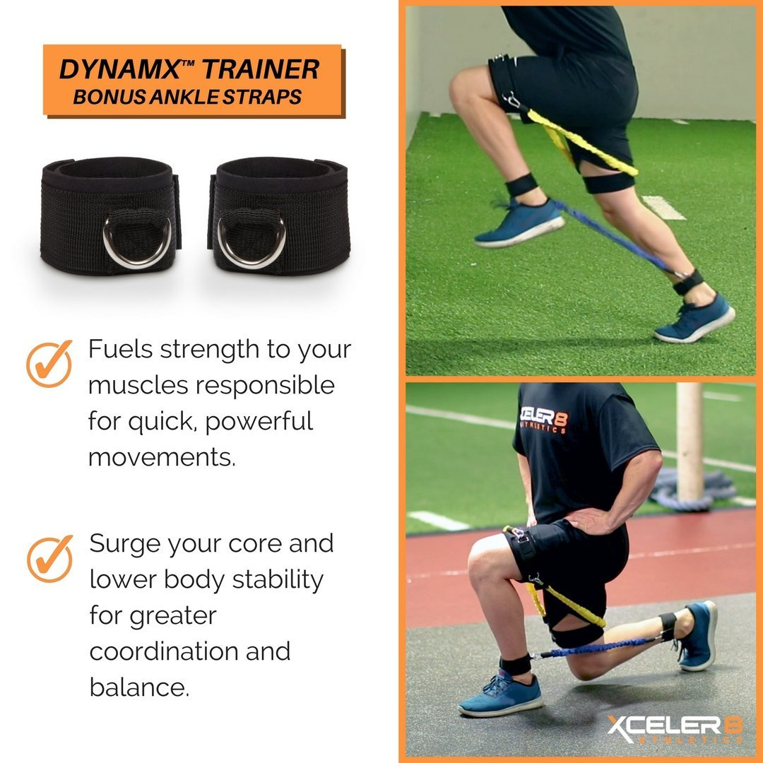 DYNAMX TRAINER Speed and Agility Training Leg Resistance Bands for All Sports /&
