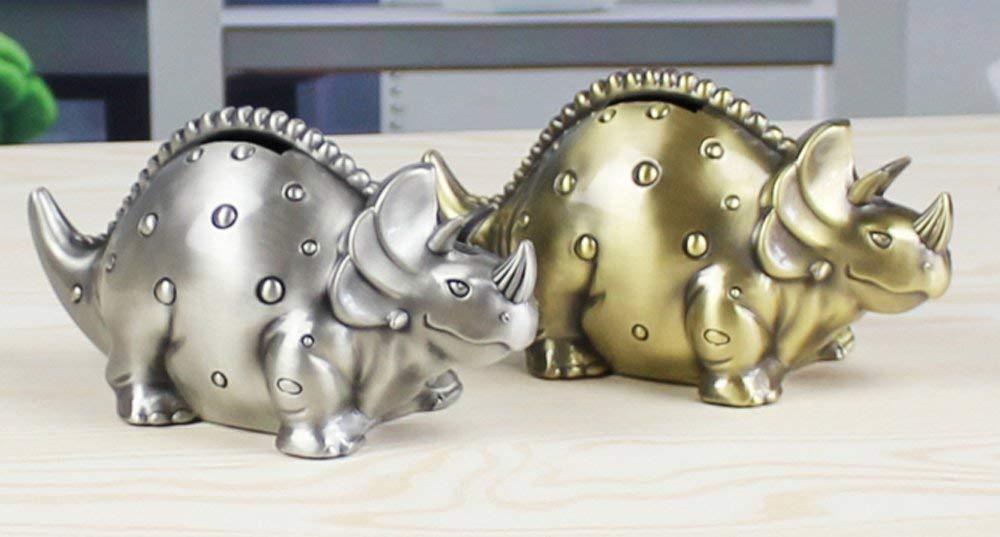 FUYU Creative Metal Cartoon Retro Dinosaur Piggy Bank Coin Bank Saving Pot Money Box For Kids Birthday Gift Nursery Decor
