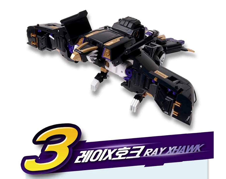 MINIFORCE MINI FORCE X RAYBOT RAY BOT XBOT Black Hawk Transformer Robot Car NEW