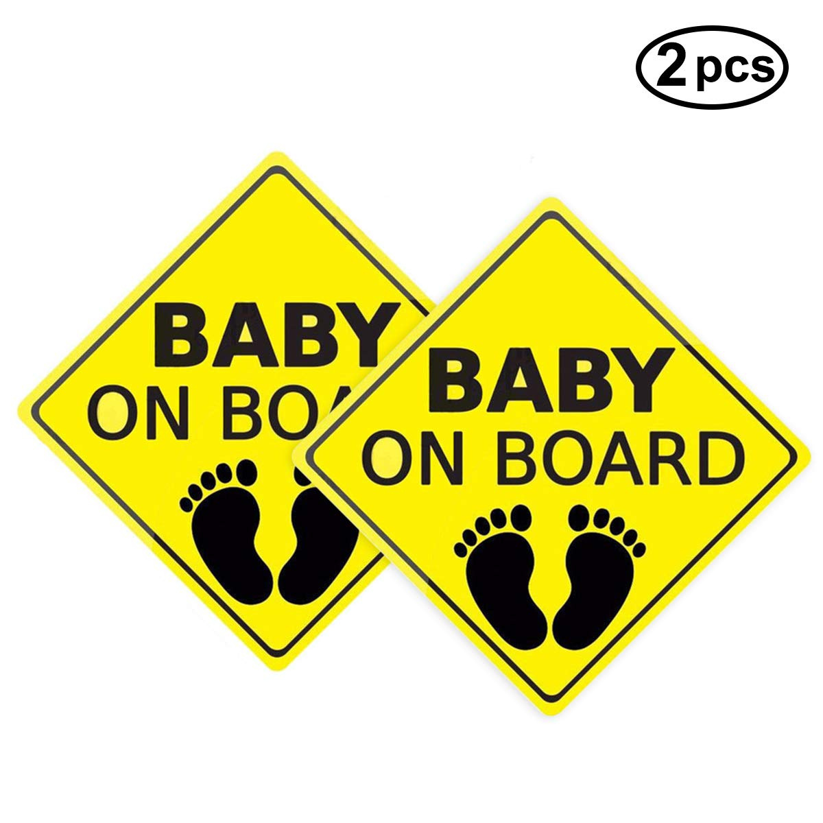 Suction Cup Car Sign Kids On Board Car Sign Baby On Board Sign Kids On Board
