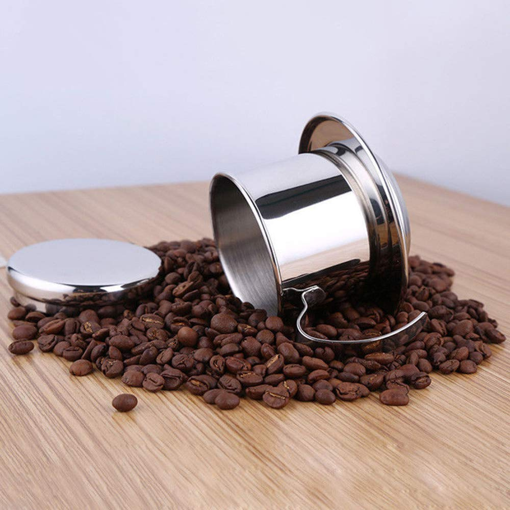 Stainless Steel Vietnam Vietnamese Coffee Simple Drip Filter Maker Infuser New Jolash Pl