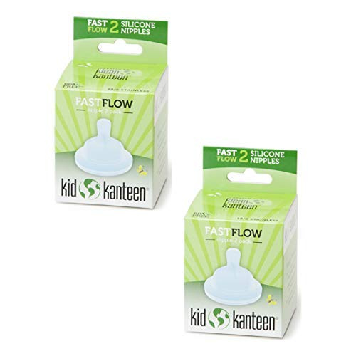 Klean Kanteen Kid Kanteen Silicone Baby Feeding Nipple Slow Flow Clear 2 Pack