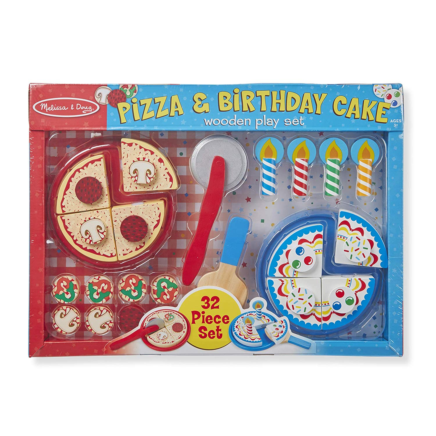 Fabulous Melissa Doug Wooden Pizza And Cake Play Set By Melissa Doug Funny Birthday Cards Online Alyptdamsfinfo