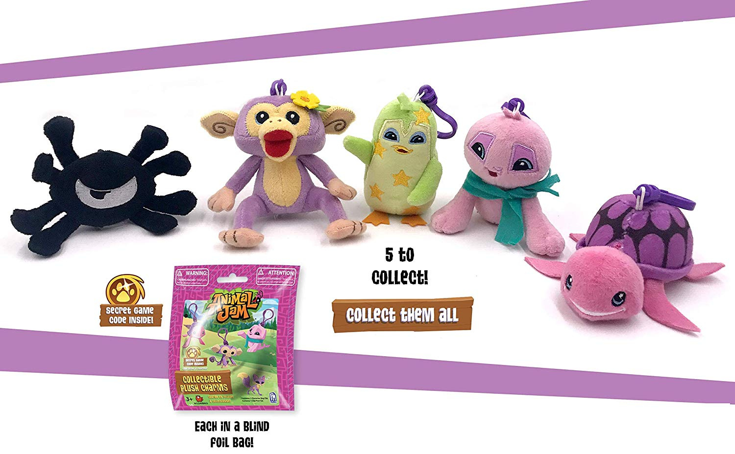Animal Jam Plush Collector Clips With Game Code
