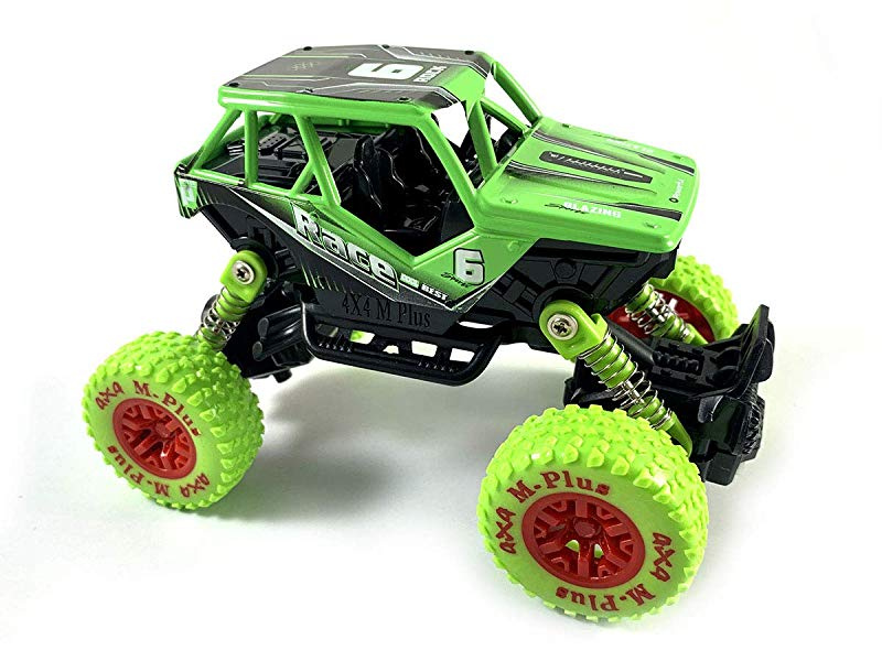 Black HCK Off Road Quad Vehicle ATV 4x4 Pull Back Toy Cars w// Suspensions 1:32 Scale
