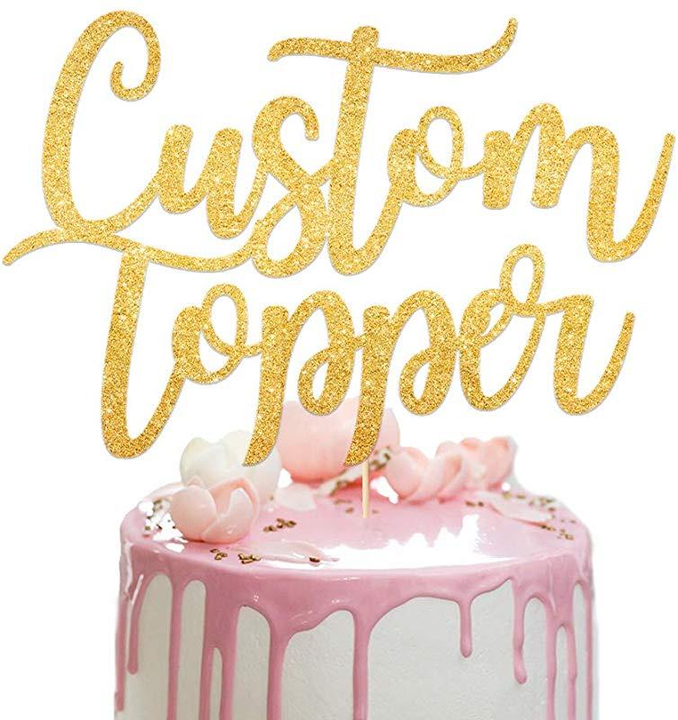Astonishing Custom Cake Topper Personalised Cake Topper Happy Birthday Personalised Birthday Cards Veneteletsinfo