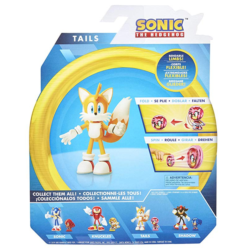 Sonic The Hedgehog Bendable Tails 10cm Action Figure By Sonic The Hedgehog Shop Online For Toys In Australia