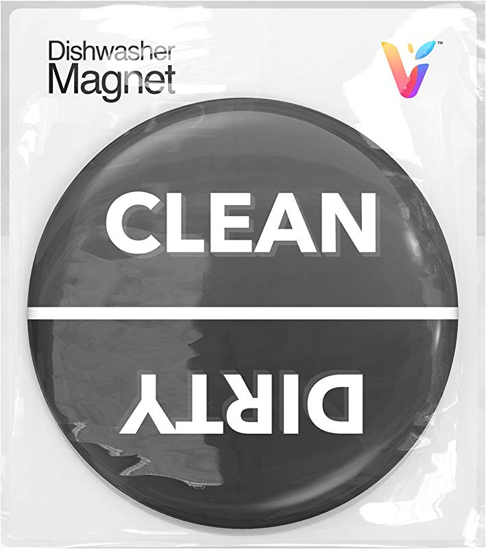Strongest Magnet Double Sided Flip Clean Dirty Dishwasher Magnet Sign Universal Kitchen Dish Washer Reversible Indicator With Bonus Metal Magnetic Plate