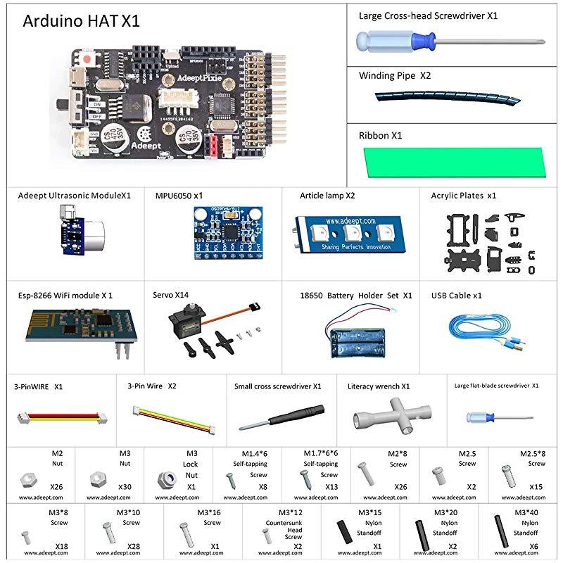 STEAM Robotics Kit with PDF Manual Adeept Quadruped Robot Kit for ...
